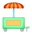 Hot dog trailer icon cartoon style vector image