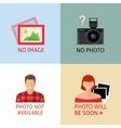 No image or photo signs for web page vector image