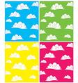 Set of cloud backgrounds vector image