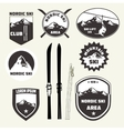 Set of skiing design elements badges logo vector image