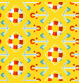 summer seamless pattern marine vector image