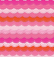 Cute pink ruffle seamless background vector image