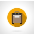 Speaker amplifier flat color round icon vector image