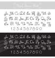 hand drawn alphabet Lines font design vector image
