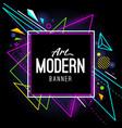 modern art banner vector image vector image