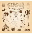 circus design elements vector image vector image