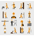 Construction worker icons flat vector image