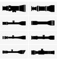 Telescopic sight vector image