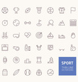 Sport Outline Icons for web and mobile apps vector image