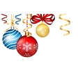 Vintage Christmas 3d decoration toys vector image