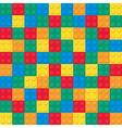 Building toy bricks pattern vector image