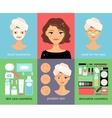 Woman facial treatments chart vector image vector image
