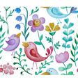 Beautiful hand drawn seamless pattern with floral vector image