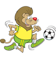 Cartoon Soccer Lion vector image