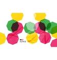 Colorful geometric modern design template vector image