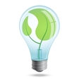 Light bulb with shoots of plants inside vector image