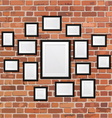 Picture frame on the wall vector image