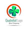 Saint Patrick quatrefoil luck symbol Business vector image