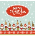 Seamless Christmas pattern with gnomes vector image