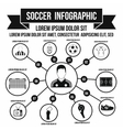 Soccer infographic simple style vector image