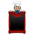 Italian chef with menu board vector image vector image