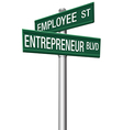 Entrepreneur Employee Street choice signs vector image