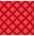 Red Tartan Diamond Background vector image