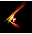 Abstract yellow and red rays lights vector image vector image