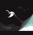 birdsegret or heron changing reality future