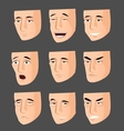 Collection of cartoon emotion faces vector image