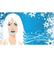 snow queen vector image vector image