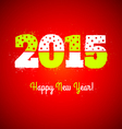 2015 on red background vector image vector image