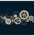 Gears background with shadow vector image
