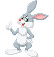 Cartoon rabbit giving thumb up isolated vector image vector image
