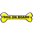 dog on board cartoon sign vector image vector image