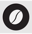 information icon - coffee bean vector image
