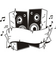 speakers tattoo vector image vector image