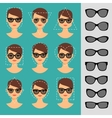 Women sunglasses shapes for different faces vector image