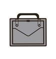 business portfolio suitcase document paper image vector image
