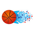 colorful olympic flame with stars and basketball vector image