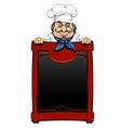 Italian chef with menu board vector image