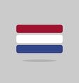 Netherlands flag state symbol stylized geometric vector image