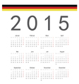 Simple german 2015 year calendar vector image