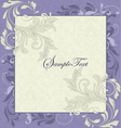 Purple and Ivory Vintage Floral Wedding Invitation vector image vector image