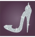 Elegant ladies high heels shoe shape made with vector image