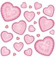 Ornate decorative heart set vector image