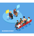 Business Coaching Isometric Template vector image