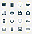 computer icons set collection of power on vector image