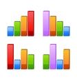 Business graph growth progress vector image