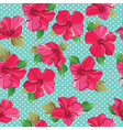 Seamless floral pattern with hibiscus vector image vector image